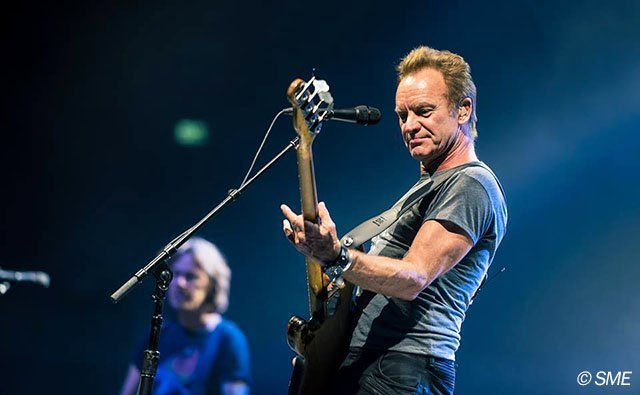 sting playing at the concert in sofia