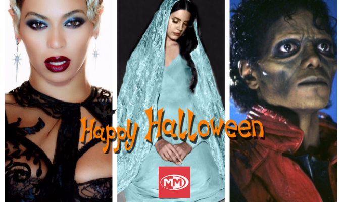 Мрачни, страшни и любими MMTV Playlist за Хелоуин Beyonce, Lana Del Rey and Michael Jackson collage