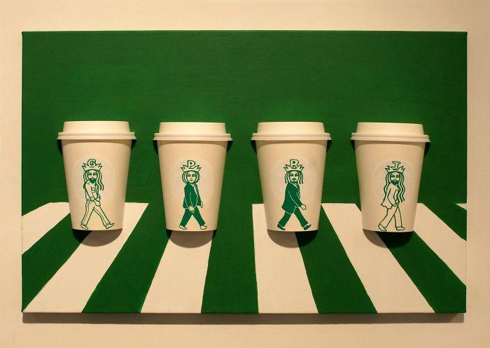 Многото животи на Русалката от Starbucks. MMTV Online Coffee cups designed by Soo Min Kim