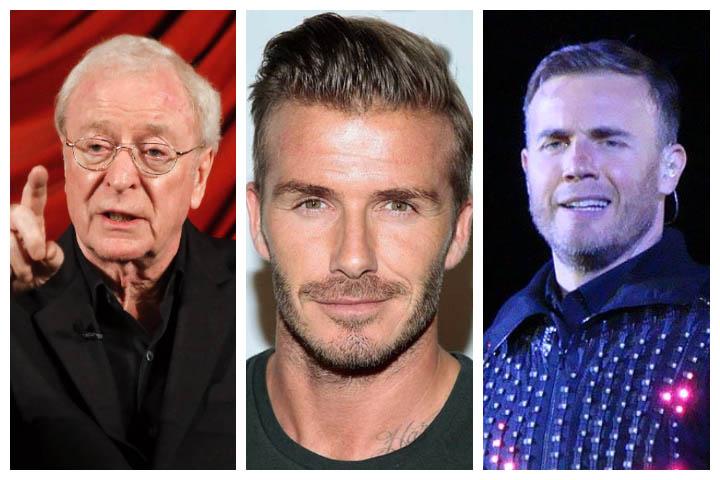Знаменитости губят милиони след отменена схема за укриване на данъци Collage of Michael Cane, David Beckham and Gary Barlow