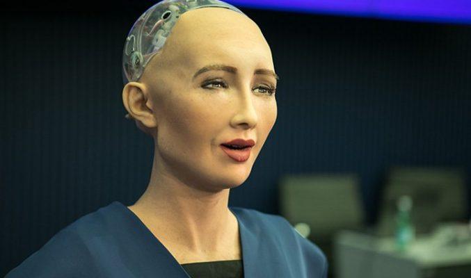 София – първият хуманоиден робот, получил гражданство Photo of the humanoid robot Sophia