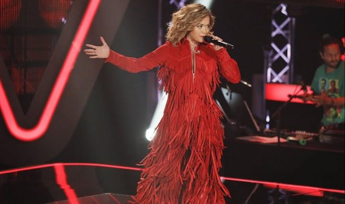 Не разпознаха Rita Ora в Гласът на Германия. MMTV Online Rita Ora onstage at 'The Voice' Germany