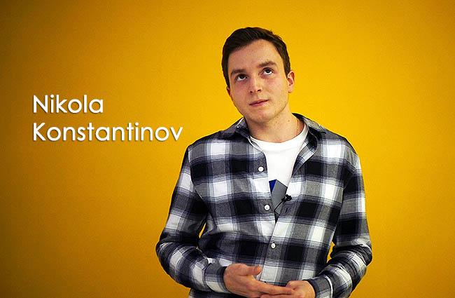 Славейчето Никола Константинов се опитва да преподаде урок по пеене на нашата водеща Ванеса.