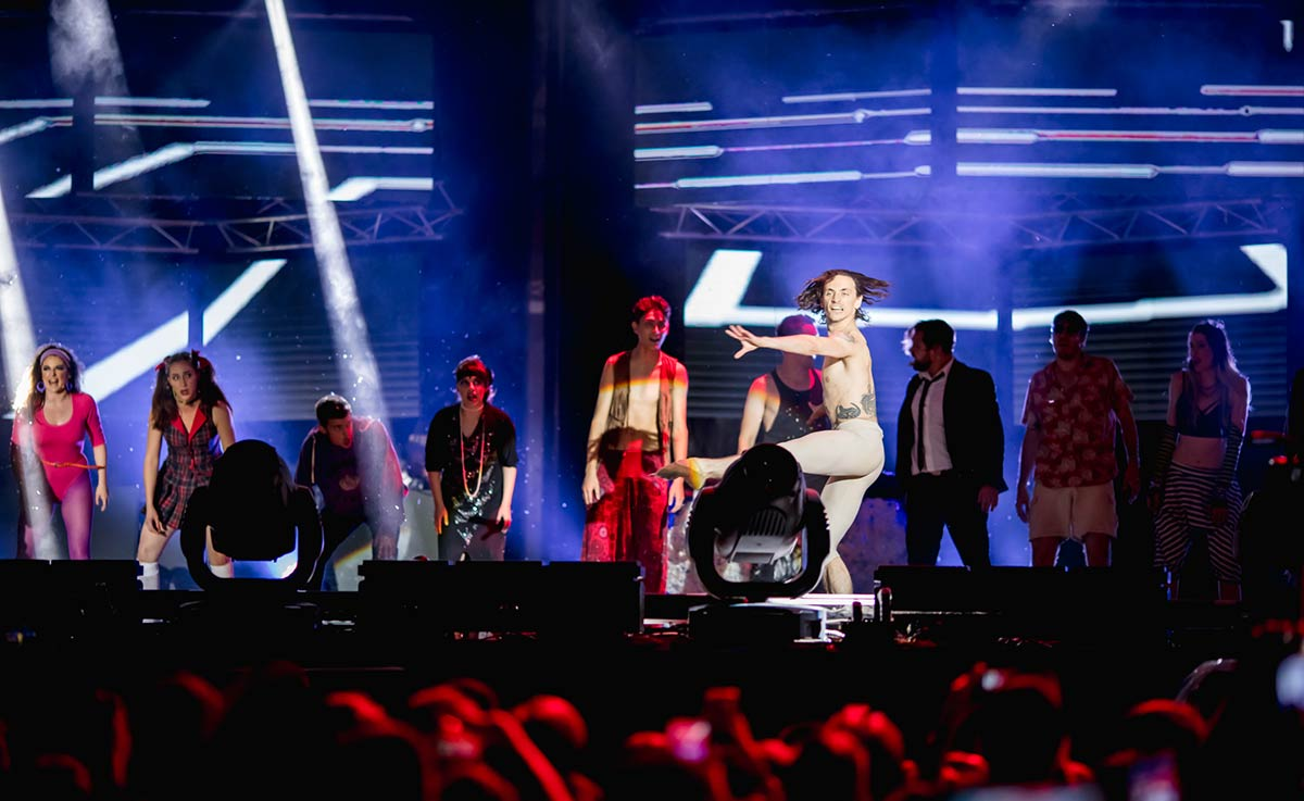 sergei polunin and orchestra on stage at exit festival