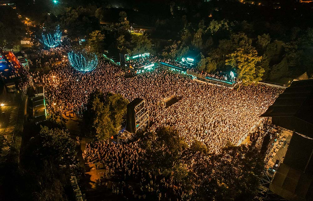 areal of thousands of fans at exit festival 2018