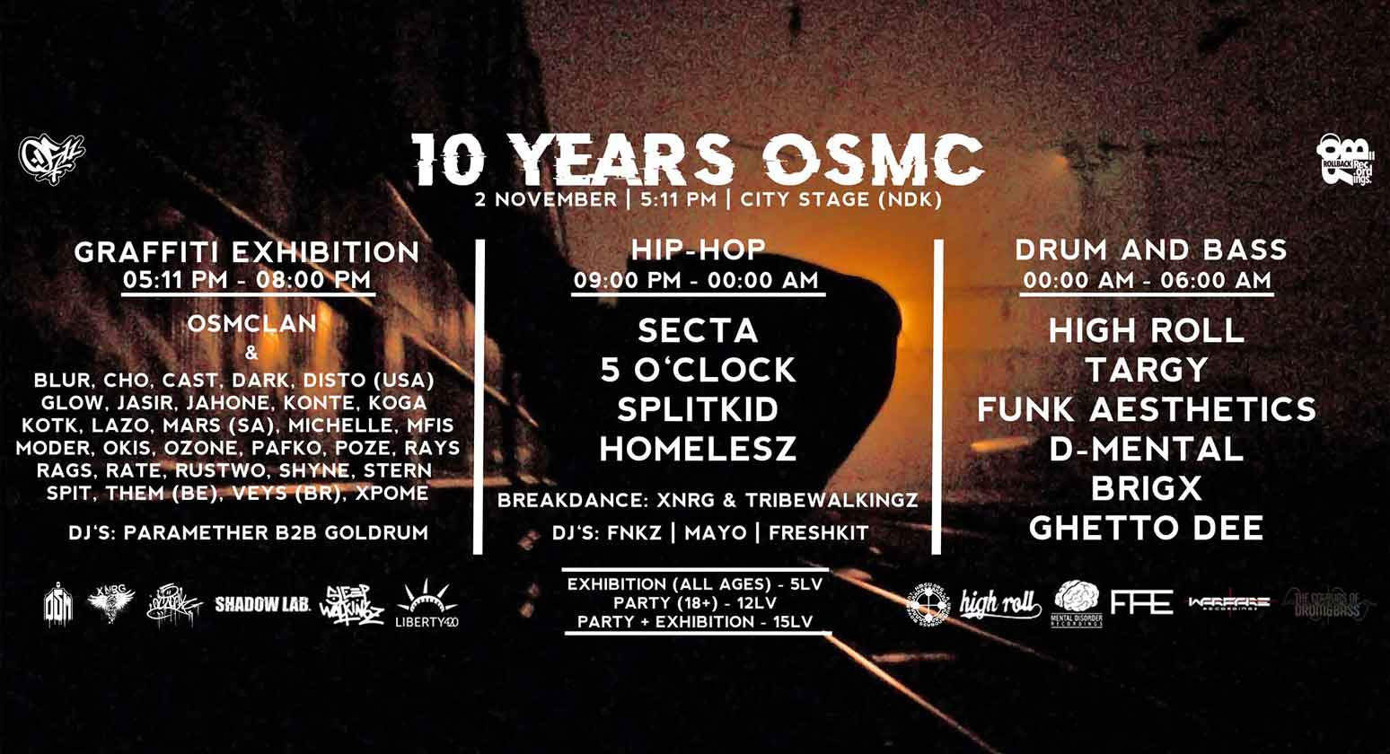 10 YEARS OSMC - City Stage 02 ноември 20:00ч.