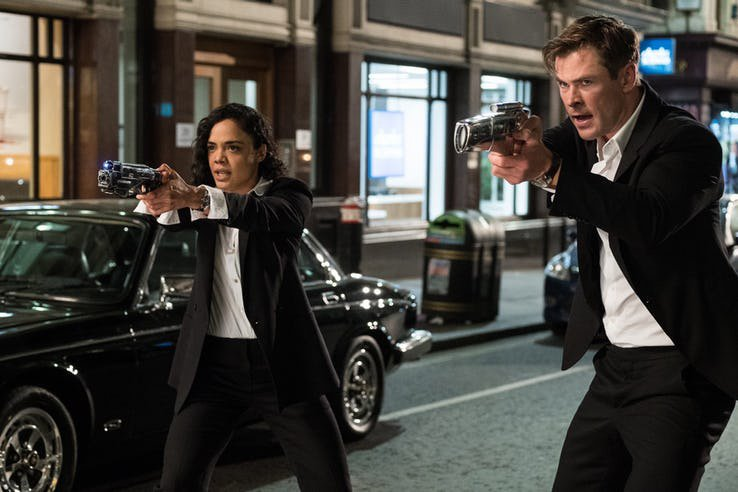 Men In Black International с Chris Hemsworth и Tessa Thompson