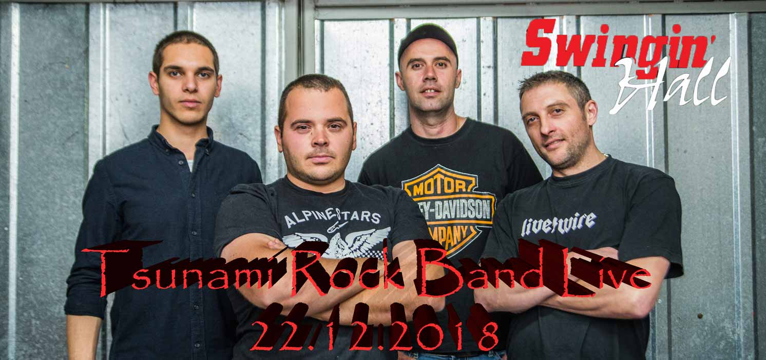 Tsunami Rock Band Live | 22 декември 2018г. Swingin' Hall