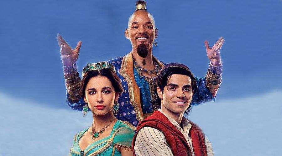 Първи снимки на Will Smith като духът от Aladdin