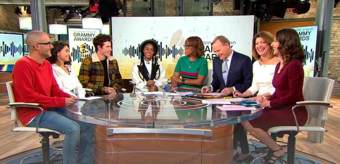 """Четирите основни категории - """"Албум"""", """"Запис"""", """"Песен на годината"""" и """"Най-добър нов изпълнител"""" - бяха представени по CBS в петък сутринта от група, включваща Shawn Mendes, Janelle Monée, Alessia Cara и Zane Lowe."""