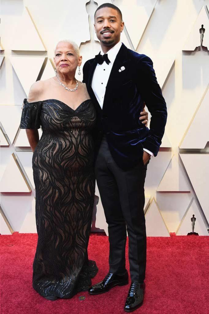 Michael B. Jordan and His Mom