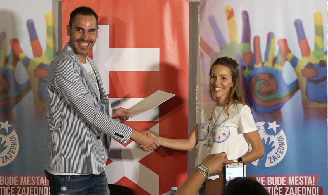 Съпругата на тенисиста Елена Джокович и основателят на фестивала EXIT Душан Ковачевич подписаха Меморандум за съвместни проекти между двете фондации