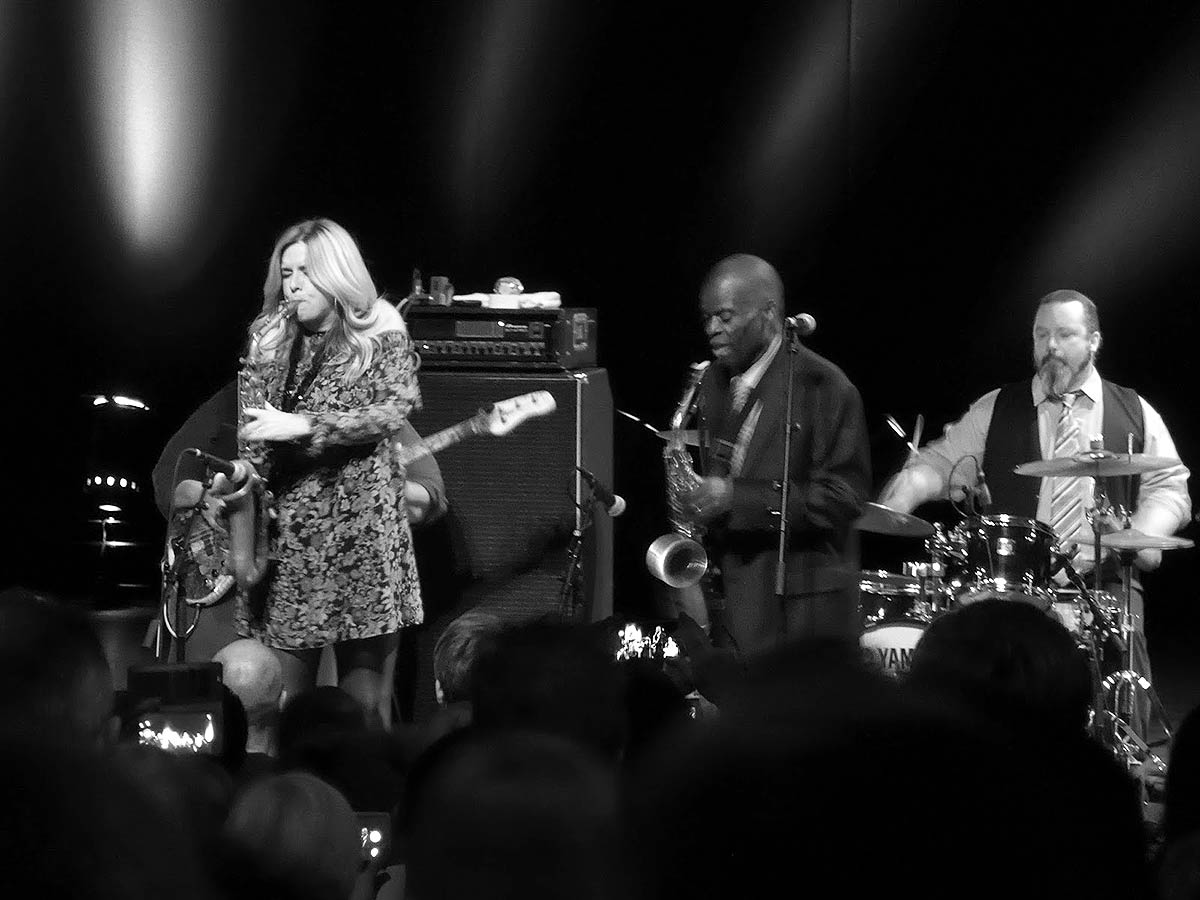 Maceo Parker and Candy Dulfer on stage