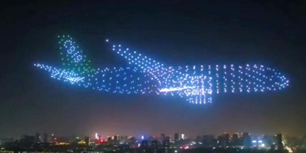 Невероятно шоу с дронове в Китай | MMTV Online