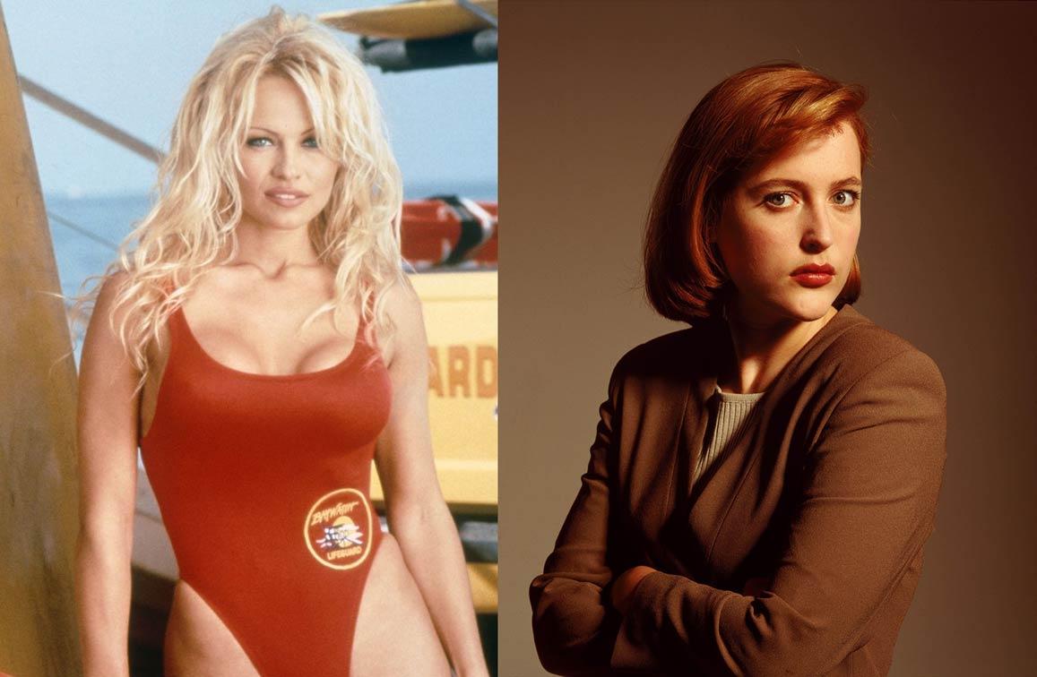 """Русата """"спасителка на плажа"""" Памела Андерсън е първият избор на продуцентите за ролята на агент Дейна Скъли."""