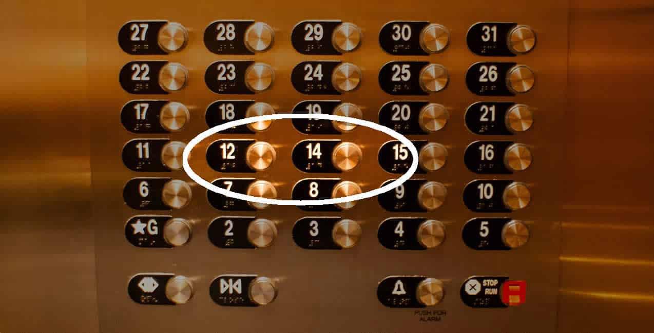 Немалко хотели са без 13-ти етаж или 13-та стая