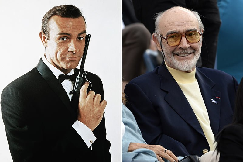 sean connery young and old